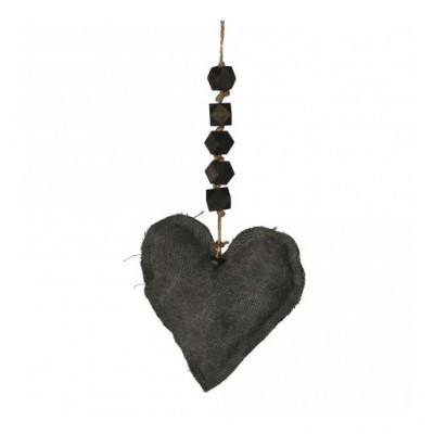 PTMD - Carol Grey Fabric Hanger Heart S