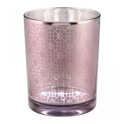 PTMD - Сandleholder Volta purple round glass pot s