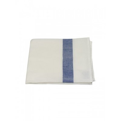 Mijn Stijl - Theedoek wit / donker blauwe streep