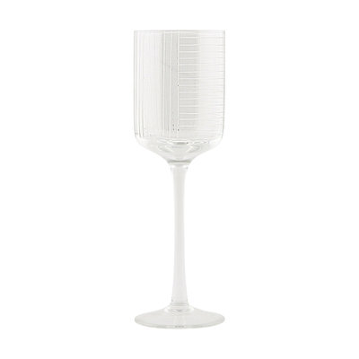House Doctor - Check - Witte wijnglas