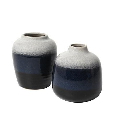 Broste Copenhagen - Vaas Lau s/2 Insignia blauw / zwart