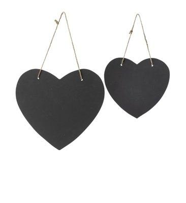 Broste Copenhagen - Krijtbord harten set van 2