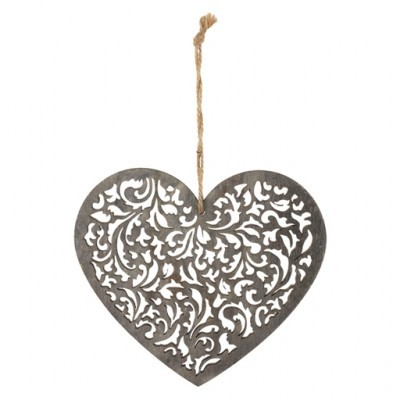 PTMD - Happiness hand carved wooden heart