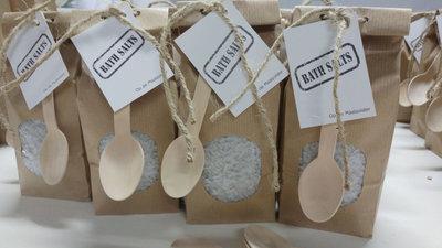 (Op) de Maalzolder - Paperbag badzout grijs