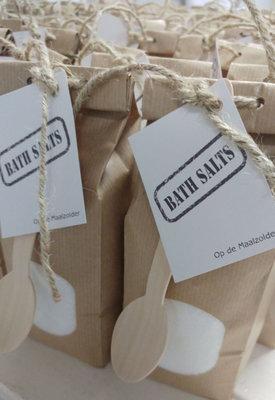 (Op) de Maalzolder - Paperbag badzout wit