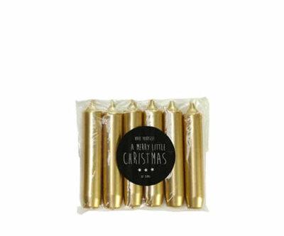 Rustik Lys - Cadeau dinerkaars Goud