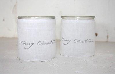 (Op) de Maalzolder - Windlichtje Merry Christmas