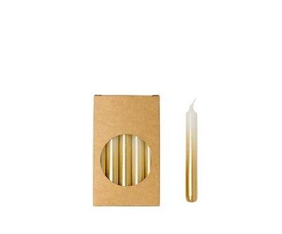 Rustik Lys - Potloodkaarsjes S Wit / goud