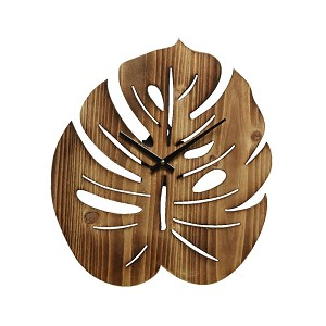 Klok monstera hout