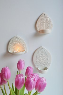Kesemy design - Muurkandelaar Lighten up Peach S