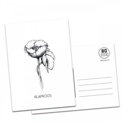 BDdesigns - Kaart Klaproos