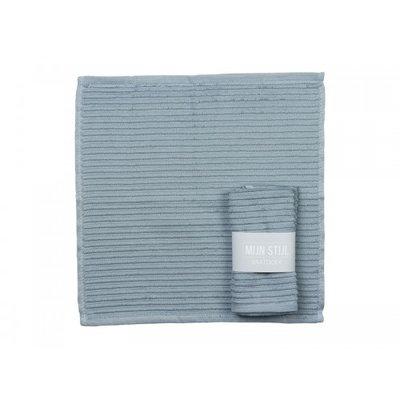Mijn Stijl - Vaatdoek blauw/grijs