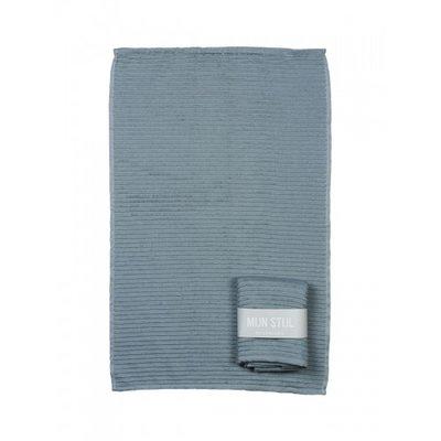 Mijn Stijl - Handdoek Blauw/grijs