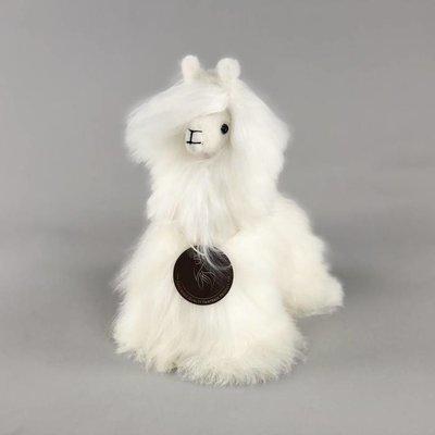 Inkari - Alpaca zachte knuffel Suri ivoor Small