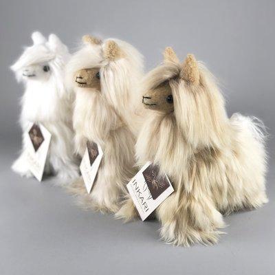 Inkari - Alpaca zachte knuffel Suri sahara Small