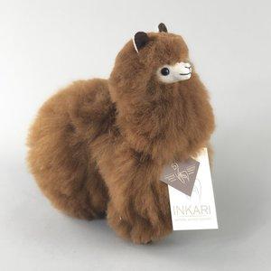 distelroos-Inkari-Alpaca-knuffel-Walnoot-S