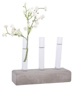 distelroos-Esschert-Design-Cuttings-tubes-set-concrete-base-S-reageerbuis-vaasjes-beton