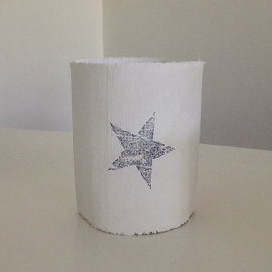 distelroos-AfroDutchPaperStone-Tealight-holder-star-theelichthouder