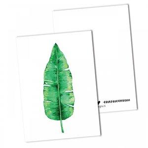 distelroos-BDdesigns-Kaart-Bananenblad