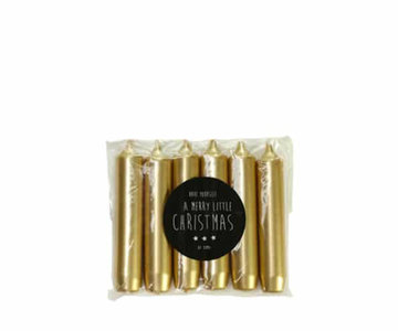 distelroos-Rustik-Lys-Cadeau-dinerkaars-Goud