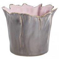 distelroos-PTMD-646155-Art-pink-ceramic-Spring-pot-bronze-L